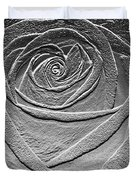Metal Rose Duvet Cover
