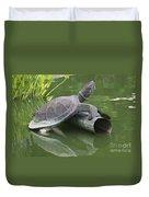 Metal Turtle Duvet Cover