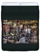 Metal Worker - Belts And Pullies Duvet Cover