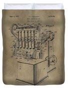 Metal Working Machine Patent Duvet Cover