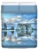 Metallic Cloud Reflections Duvet Cover