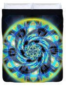 Metatron Swirl Duvet Cover by Derek Gedney