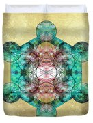 Metatron's Cube Duvet Cover by Filippo B