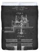 Method Of Drilling Wells Patent From 1906 - Dark Duvet Cover
