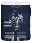 Method Of Drilling Wells Patent From 1906 - Navy Blue Duvet Cover
