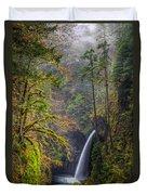 Metlako Falls Oregon Duvet Cover