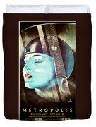 Metropolis Poster Duvet Cover