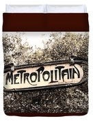 Metropolitain Duvet Cover