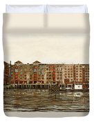 Metropolitan Wharf Wapping London About 1980 Duvet Cover