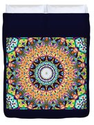 Mexican Ceramic Kaleidoscope Duvet Cover