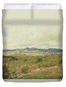 Mexican Mountains Duvet Cover