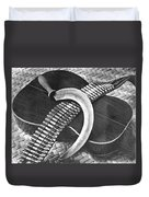 Mexican Revolution Guitar, Sickle Duvet Cover