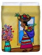 Mexican Street Vendor Duvet Cover