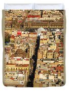 Mexico City Cathedral And Zocalo Duvet Cover by Jess Kraft