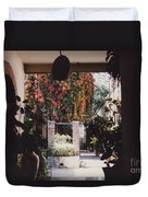 Mexico Garden Patio By Tom Ray Duvet Cover