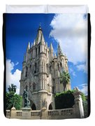 Mexico, View Of Parroquia Church San Duvet Cover by Kyle Rothenborg