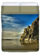 Meyers Beach Stacks Duvet Cover