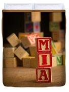 Mia - Alphabet Blocks Duvet Cover