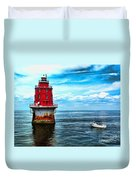 Miah Maull Shoal Lighthouse Duvet Cover