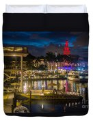 Miami Bayside And Freedom Tower Duvet Cover