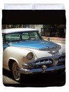 Miami Beach Classic Car 2 Duvet Cover