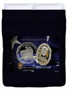 Miami Dade Police Memorial Duvet Cover
