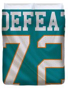 Miami Dolphins Undefeated Season Duvet Cover