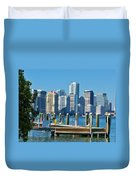 Miami On The Docks Duvet Cover