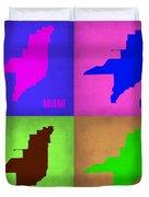 Miami Pop Art Map 1 Duvet Cover