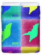 Miami Pop Art Map 3 Duvet Cover