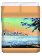 Miami Skyline Abstract II Duvet Cover