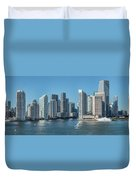Miami Skyline, Miami-dade County Duvet Cover