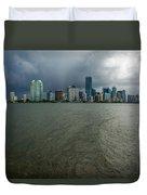 Miami Skyline Storm Duvet Cover