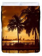 Miami South Beach Romance II Duvet Cover