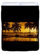 Miami South Beach Romance Duvet Cover