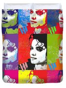 Michael Jackson Andy Warhol Style Duvet Cover