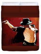 Michael Jackson Artwork 4 Duvet Cover by Sheraz A