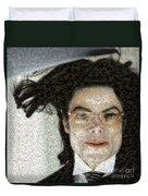 Michael Jackson - Fly Away Hair Mosaic Duvet Cover