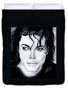 Michael Jackson Portrait Duvet Cover