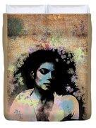 Michael Jackson - Scatter Watercolor Duvet Cover