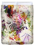 Michael Jordan Duvet Cover by Aged Pixel