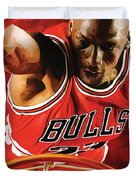 Michael Jordan Artwork 3 Duvet Cover by Sheraz A