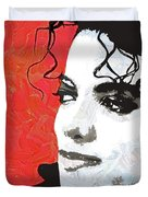 Michael Red And White Duvet Cover
