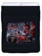 Michael Schumacher Out Of The Darkness Duvet Cover
