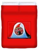 Michael Schumacher Though The Logo Duvet Cover
