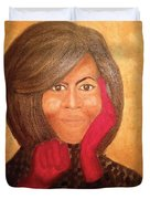 Michelle Obama Duvet Cover by Ginnie McKnight