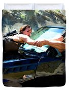 Michelle Rodriguez And Vin Diesel @ Fast To Furious Duvet Cover