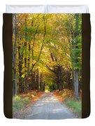 Michigan Back Roads Duvet Cover