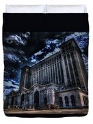 Michigan Central Station Hdr Duvet Cover