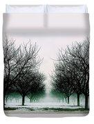 Michigan Cherry Trees In Winter Duvet Cover